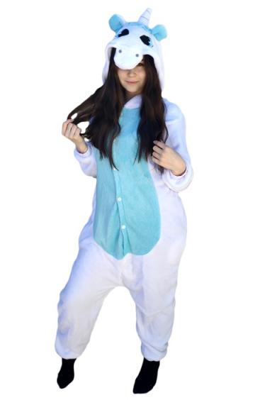 kigurumi unicornio azul foto 3