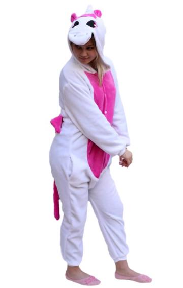 kigurumi piajama unicornio rosa-1