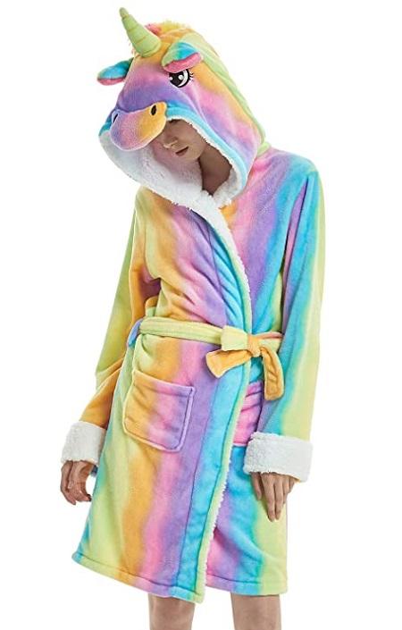 Bata de Unicornio Arco iris