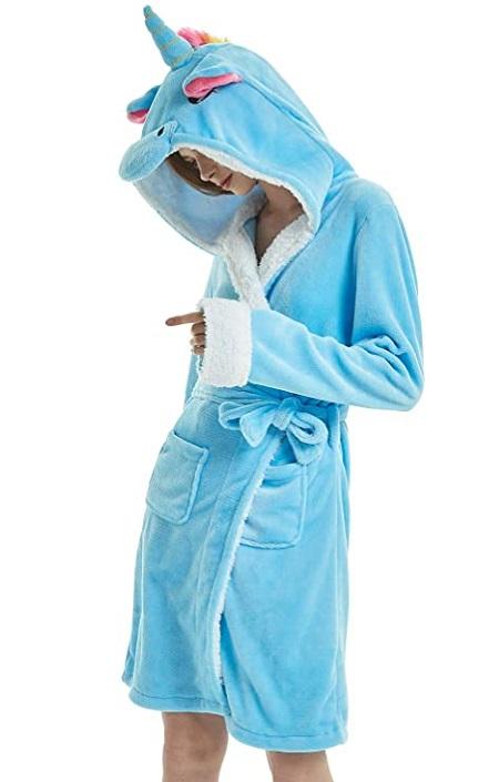 Bata Unicornio Azul