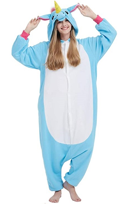 Pijama Kigurumi de «Unicornio Claro Azul»