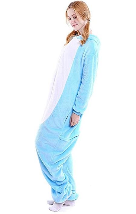 Pijama de conejo azul