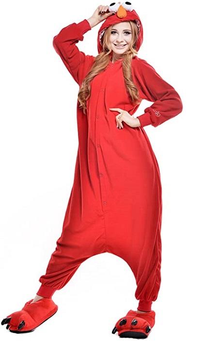 Kigurumi pijama de «Monstruo de las galletas Rojo»