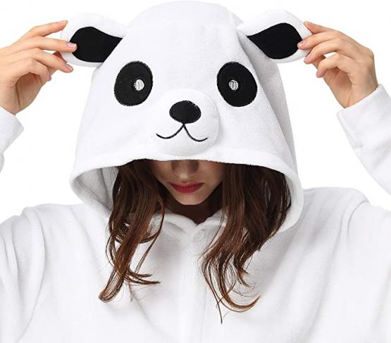 Pijama de oso blanco