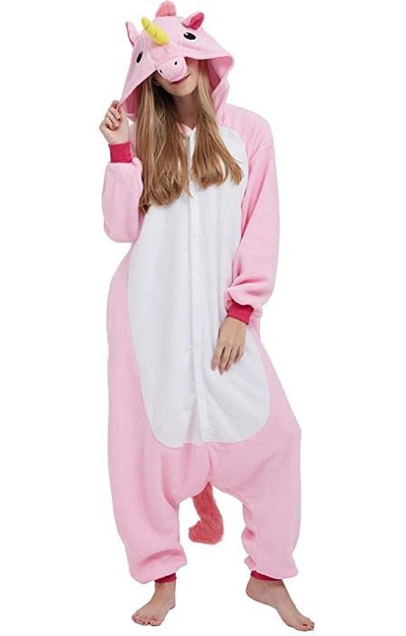 Pijama Kigurumi de «Unicornio Rosa Claro»