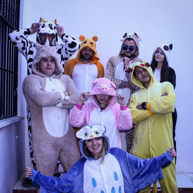 Pijamas kigurumi 🦄🐴🐮🐷🦓 Máxima diversión garantizada 💯 - - - - #pijamas #fiesta #disfraz #carnaval2019 #cosplay #anime #pikachu #animales #diversion #buho #españa #regalo #regalosoriginales